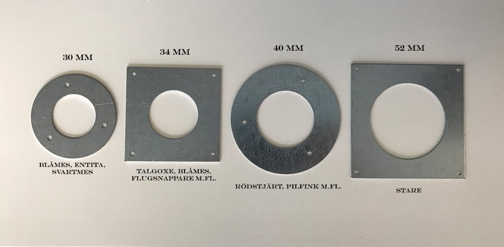 Holkring Metall 40 Mm Hackspettskydd