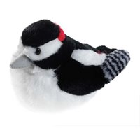 Singing Soft toy - Great spotted woodpecker