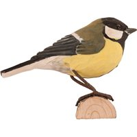 Great tit Wood Carving