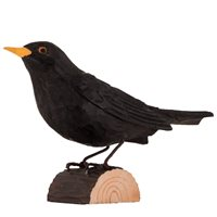 Blackbird Wood Carving