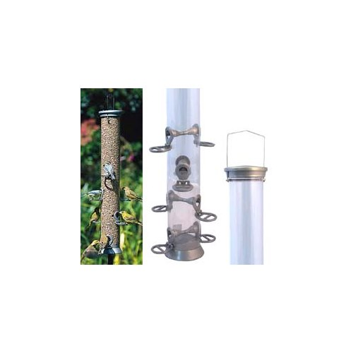 Seed Feeder in metal, 60 cm, 8 holes