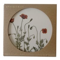 Glass Coaster Poppy